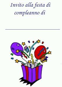 2 Biglietti Di Invito Per La Festa Di Compleanno Dei Bambini